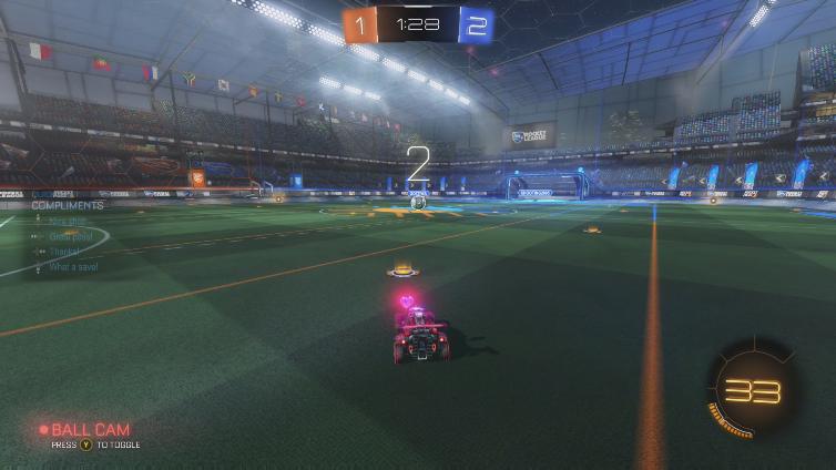 ProfessorPluto playing Rocket League